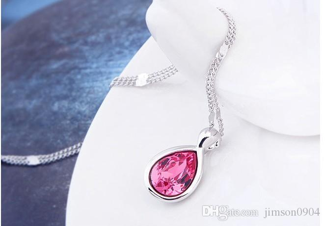 2017 new A genuine using SWAROVSKI Elements Crystal Necklace - Virgo constellation fashion jewelry wholesale sale