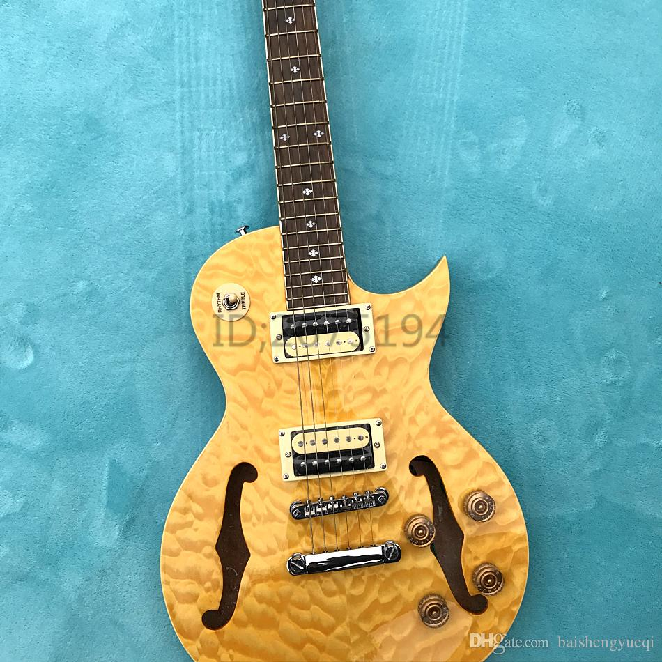 hot half wave hollow maple body mahogany neck electric guitar pickups opened for freight the. Black Bedroom Furniture Sets. Home Design Ideas