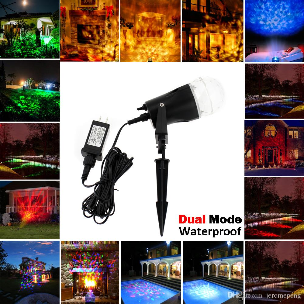 Laser Rotating Flame Light Projectors Waterproof Christmas Rf Rgb Led Strip Controller Met Color Wheel 100x100 Landscape Spotlight Projection Show For Indoor Outdoor Decoration