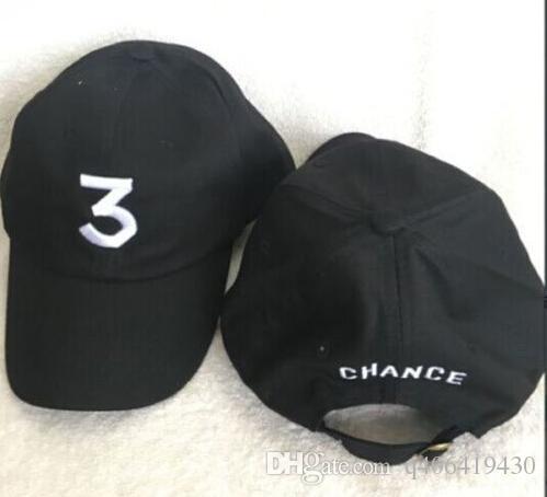 ba9aee04aaf Embroidered Chance The Rapper 3 Hat Black Baseball Cap Fashion Kanye West  Bear Dad Caps Casquette Hip Hop Strapback Sun Drake Ovo Hats Custom Hat  Caps For ...