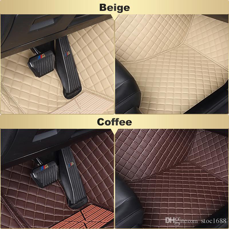SCOT Custom Fit Car Foot Pads All Weather Leather Car Floor Mats for Honda HRV Waterproof Anti-slip 3D Front & Rear Carpets