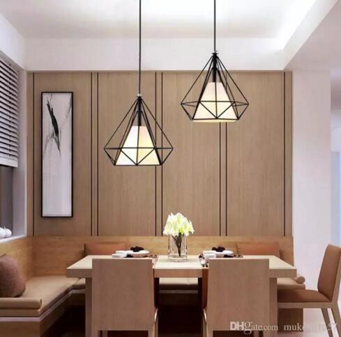 Nordic American Bar Table Lamps Restaurant Chandeliers Three Diamond - Diamond bar table