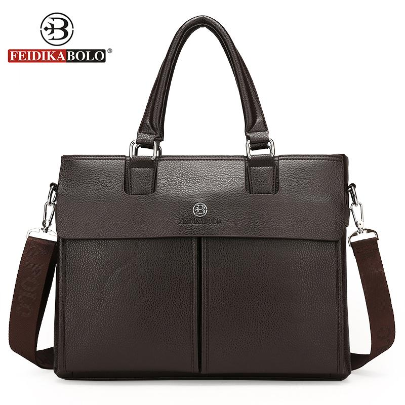276c88dad07 Wholesale- FEIDIKA BOLO Brand Bag Men Messenger Bags Business Men Laptop  Handbags Mens Crossbody Bag Tote Leather Briefcase Shoulder Bags Leather  Briefcase ...