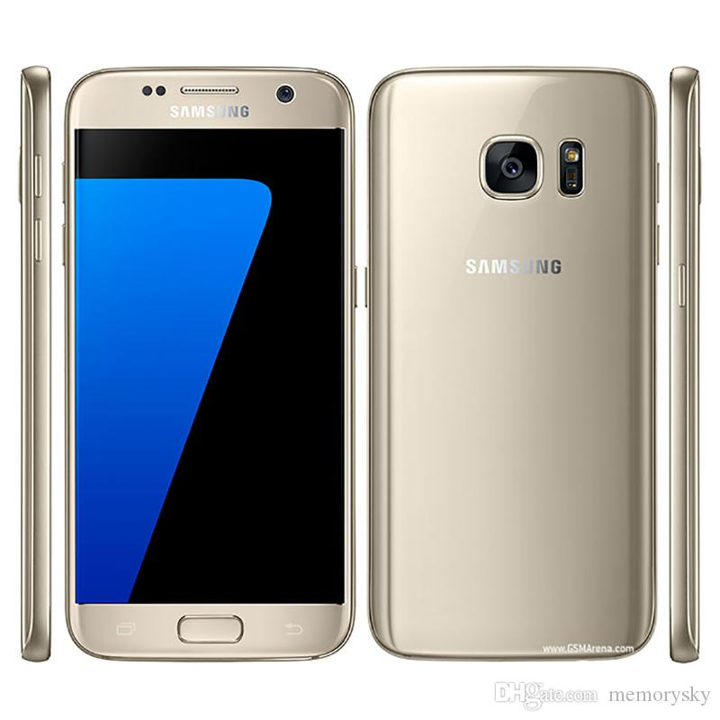 Original Samsung Galaxy S7 G930A G930T G930P G930V G930F Octa Core 4GB / 32GB 5.1 pulgadas Android 6.0 Teléfono desbloqueado Reacondicionado