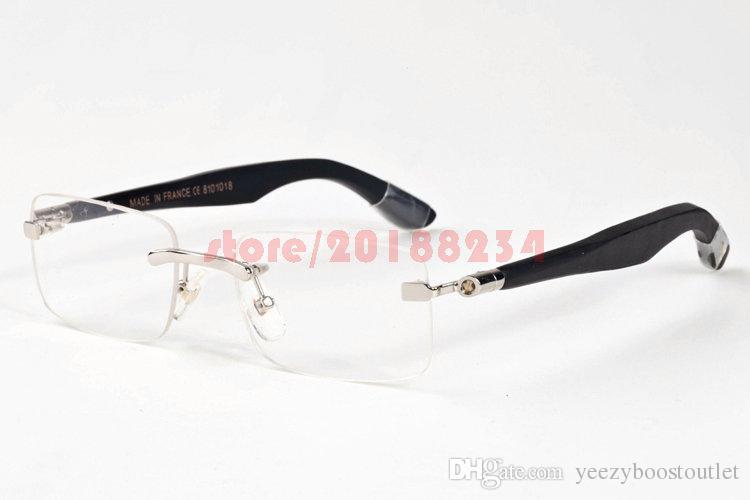 Compre Hombres Mujeres Sin Montura Grandes Marcos Gafas Diseñador De ...