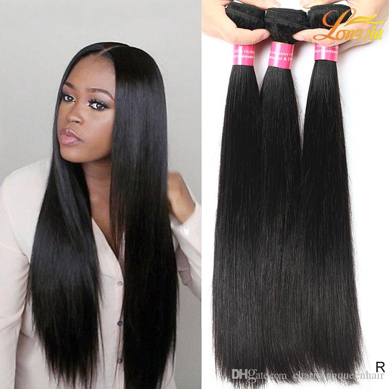 Factory Grade 8a Virgin Human Remy Straight Hair Weave Bundles