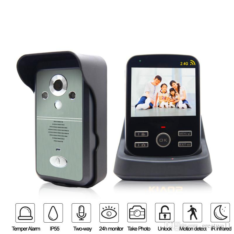 Wifi Video Door Phone 1v1 Draadloze Deurbel Met Videocamera Wireless Door Intercom Door Wifi Camera 2.4g Sonnette Best Front Door Camera Best Front Door ...