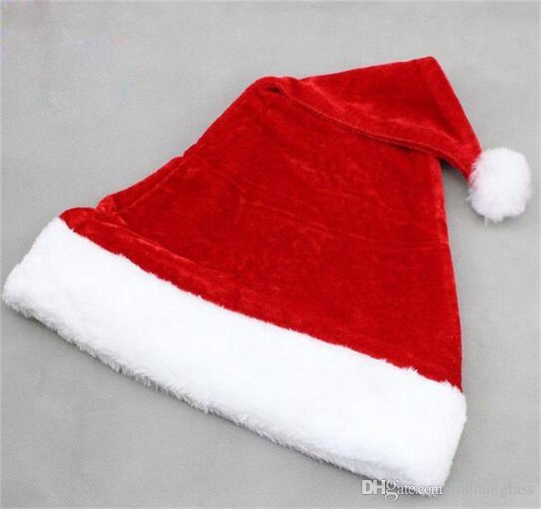 Super doux chapeau de Noël en velours de haute qualité en peluche chapeau de père Noël pour la fête de Noël décoration fête de haute qualité
