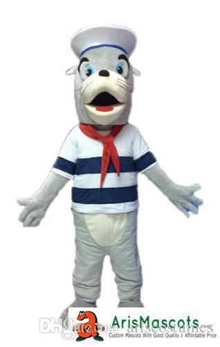 a6b930d2a 100% Real Photos Sea Lion Mascot Outfit Custom Team Mascots Sports Mascot  Costume Desuisement Mascotte Character Design Company ArisMascots Goat  Mascot ...
