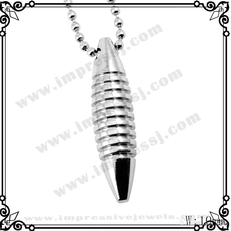 IJD2348 Screw Stainless Steel Necklace Ashes Keepsake Urn Pendant Necklace Memorial Jewelry