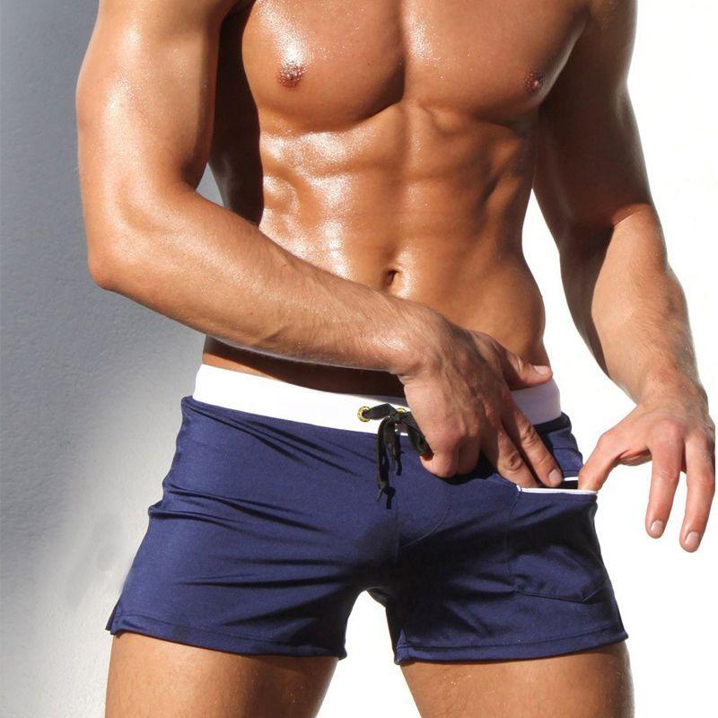 285f104329 2017 NEW Men's Swim Shorts Racing Swimsuit Man Swimming Trunks Swimming  Briefs Breathable Swimwear Men Boxer Board Shorts Fashion Sexy Men's  Swimsuit ...
