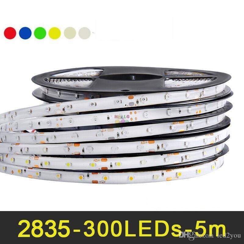 5M 300 leds RGB LED Strip light 2835 SMD Decoration lamp High Luminous flux More than 3528 Lower Price than 5050 5630 SMD