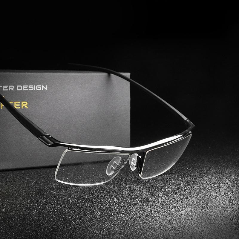 6ccd0cd0b02 2019 Classic Luxury Brand Men Eyeglasses With Steel Optical Brand Designer  Mirror Glasses Frames Flat Glasses Sunglasses For Mens Eyeglass From  Bellejewelry ...