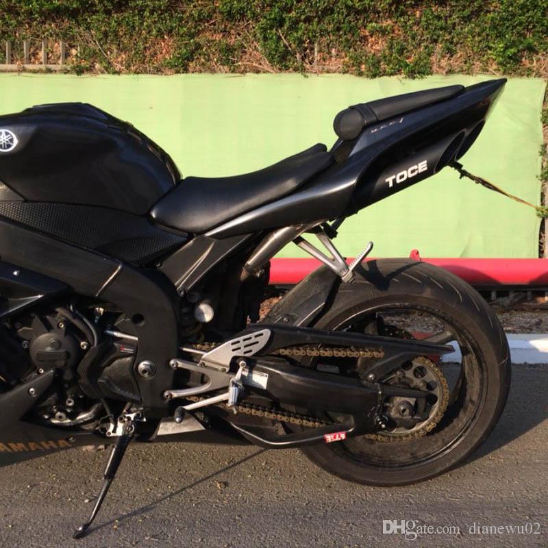 51mm NEW Universal Motorcycle Exhaust Muffler Double Tube Black Box TOCE z800 bn300 zx10r R1 R3 NINJIA250 CB40 CB400 YA004