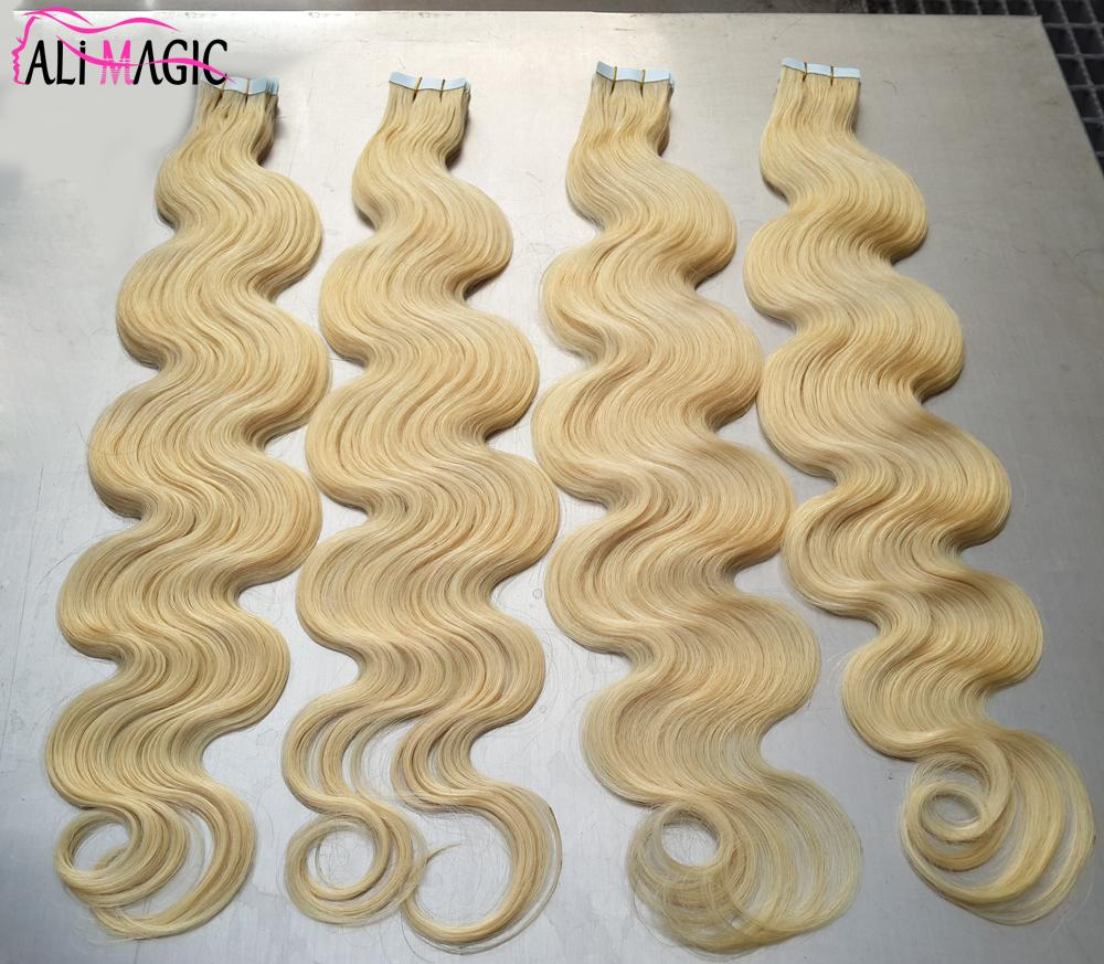 Beauty Skin Weft Tape Hair Extensions 100g Cheap Human Hair Blonde