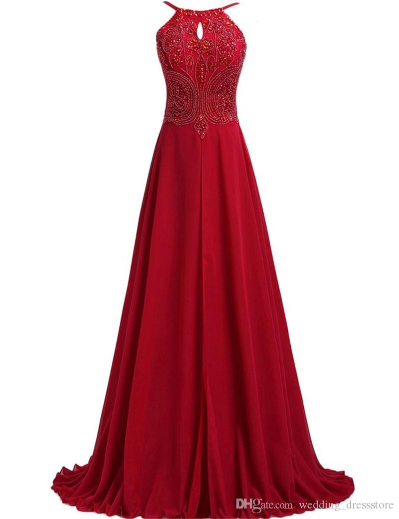 Sexy Backless Prom Dresses Spaghetti Straps Burgundy Evening Dresses 2017 Vestidos Para Formatura Longo Fast Shipping