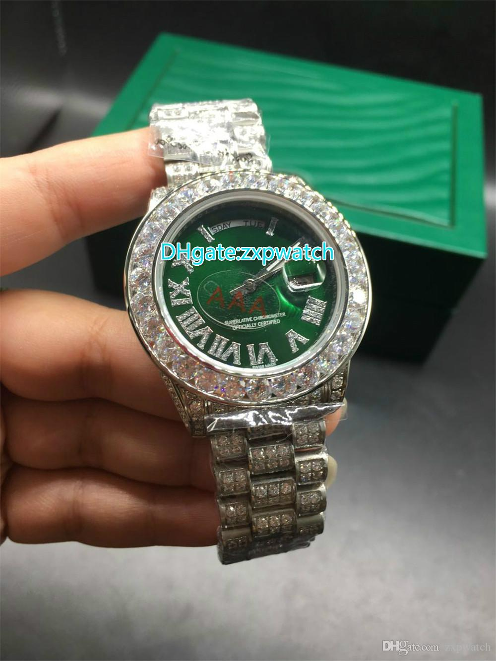 datejust watches iced mens date diamond stainless rolex full mm ii watch ct