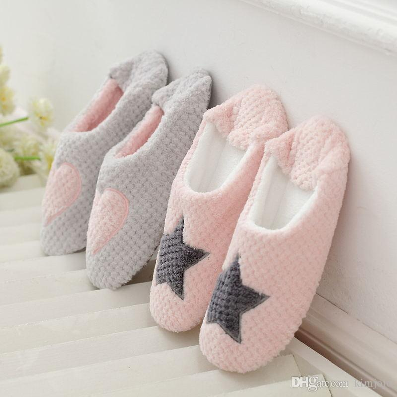 64c9c3a312cc Women Home Slippers Warm Winter Cute Indoor House Shoes Bedroom Room For  Guests Adults Girls Ladies Pink Soft Bottom Flats Rubber Boots Womens  Slippers From ...