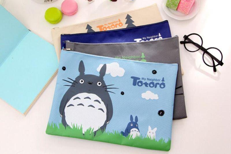 32 X 23cm Kawaii cartoon My Neighbor Totoro Oxford cloth A4 File Folder bag Document Filing Bag Big Stationery Bag