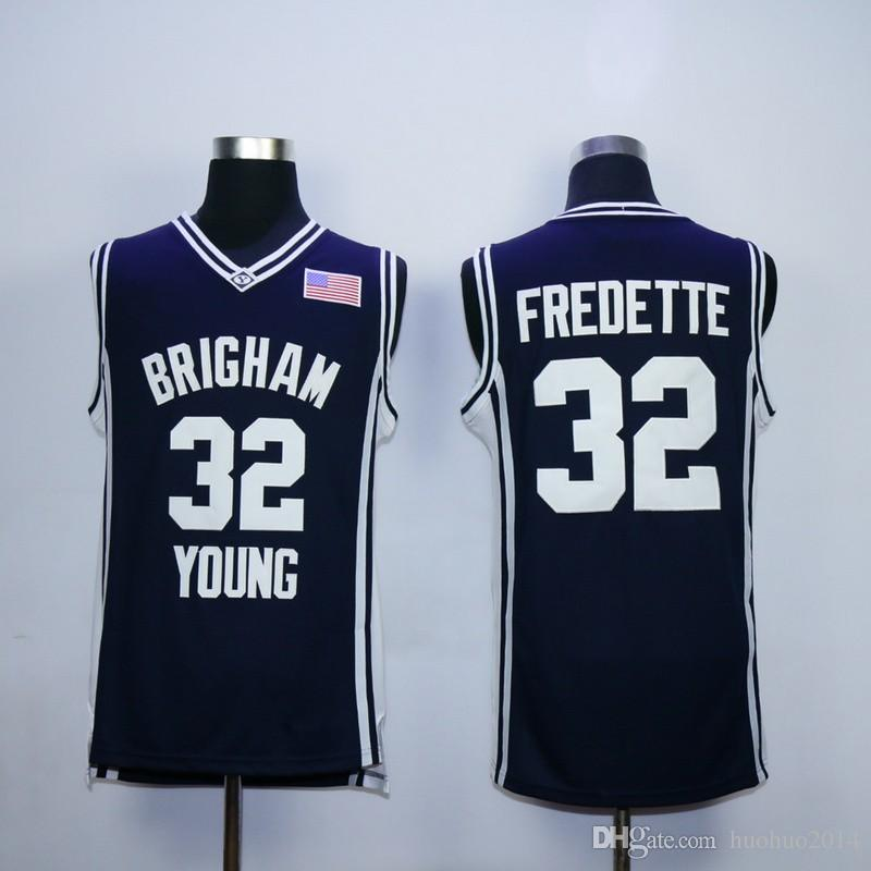 0977272d04b Mens Brigham Young Cougars  32 Jimmer Fredette College Jersey Navy ...