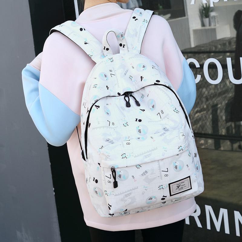 6d21e988913f Creative Shoulder Bag Women Japan South Korea alphabet printing travel  backpack college school designer backpacks