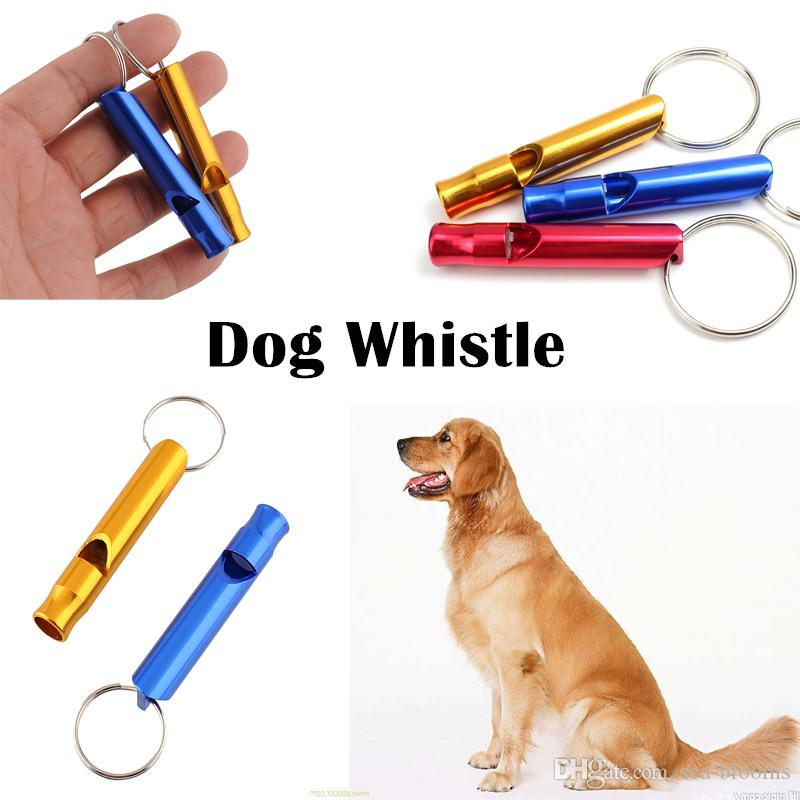 Outdoor Emergency Survival Mix color Whistle Hiking Camping Aluminum Metal Life Saving Whistle KeyChain With Ring Dog Training B237S