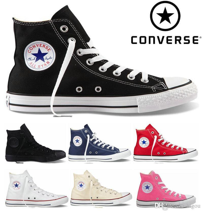 38735f836 Compre 2018 Converse Chuck Tay Lor All Star Zapatos Para Hombres Mujeres  Brand Converses Casual High Top Classic Skateboard Canvas Running Sneakers A   32.49 ...