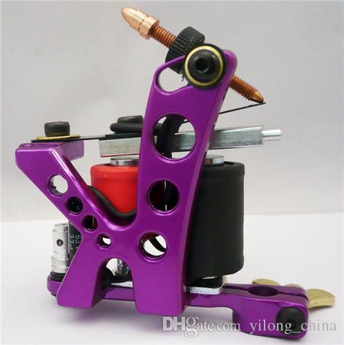 ستة لون جديد وصول آلات الوشم اليدوية 8 لفائف التفاف الوشم بندقية لشادر للمحترفين استوديو الوشم