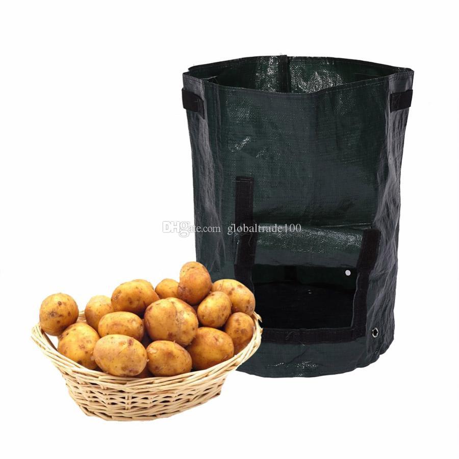 أكياس البطاطس زرع pe الأسرة حديقة شرفة حديقة الأواني من الخضروات العضوية البطاطا المزارعون تنمو حقيبة 50 قطعة / الوحدة