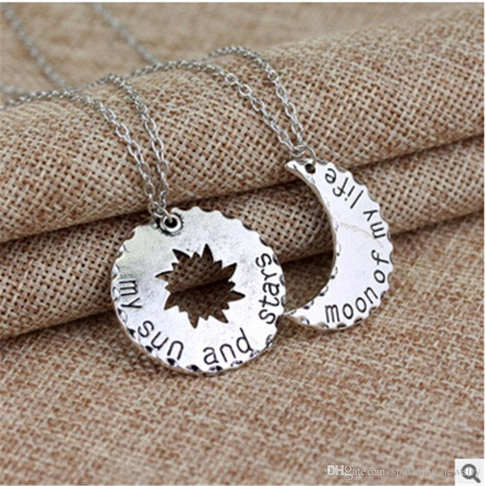Wholesale fashion star moon pendant necklaces alloy best lover wholesale fashion star moon pendant necklaces alloy best lover necklaces vintage style star of my life jewelry gold jewellery diamond circle pendant aloadofball Image collections