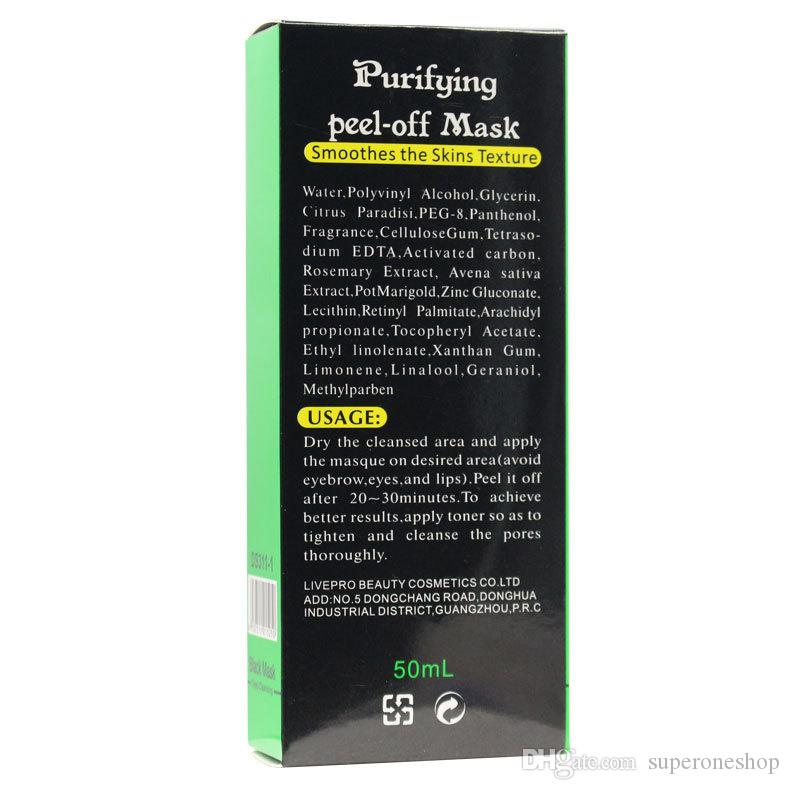 2017 New DISAAR Black Mask Facial Blackhead Remover Deep Care Cleansing Peel Off Black Mud Mask Purifying Peel Acne Black Heads Remover