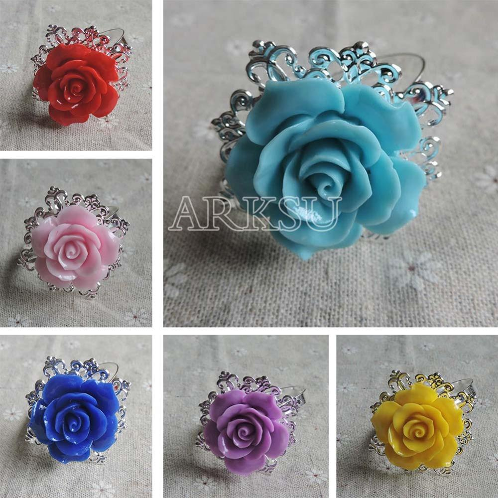Wholesale Rose Napkin Ring Romantic Nice Looking Weeding Party Table