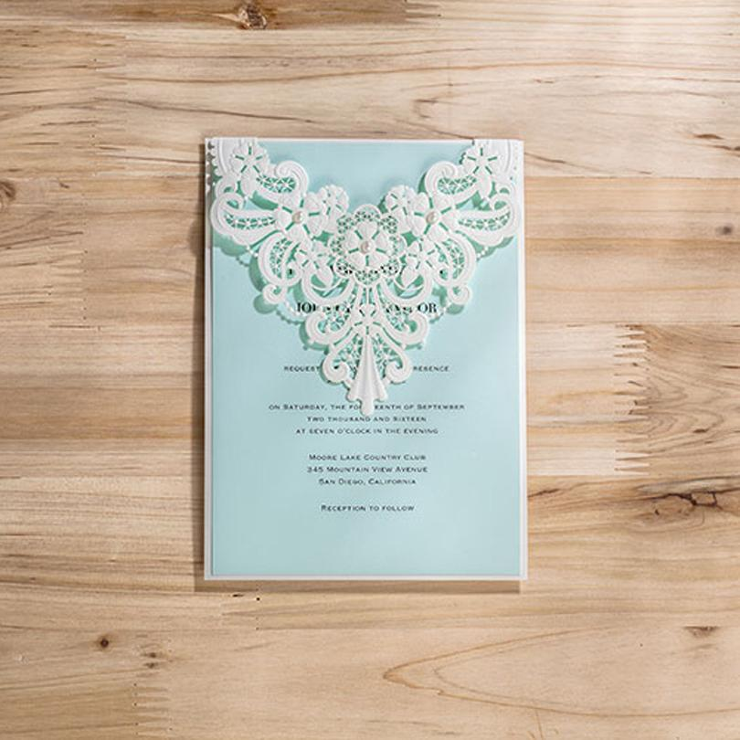 Wholesale laser cut elegant wedding invitation card with pearl white wholesale laser cut elegant wedding invitation card with pearl white lace engagement invitations for party cw5190 musical greeting card musical greeting m4hsunfo