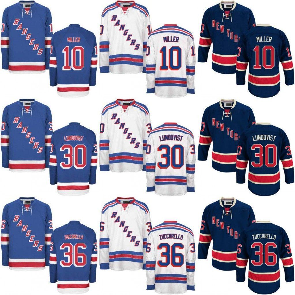 low priced daa2d 6aba2 #30 Henrik Lundqvist Jersey Cheap Hockey Jerseys New York Rangers 10 J.T.  Miller 36 Mats Zuccarello Jersey High Stiched Free Shipping