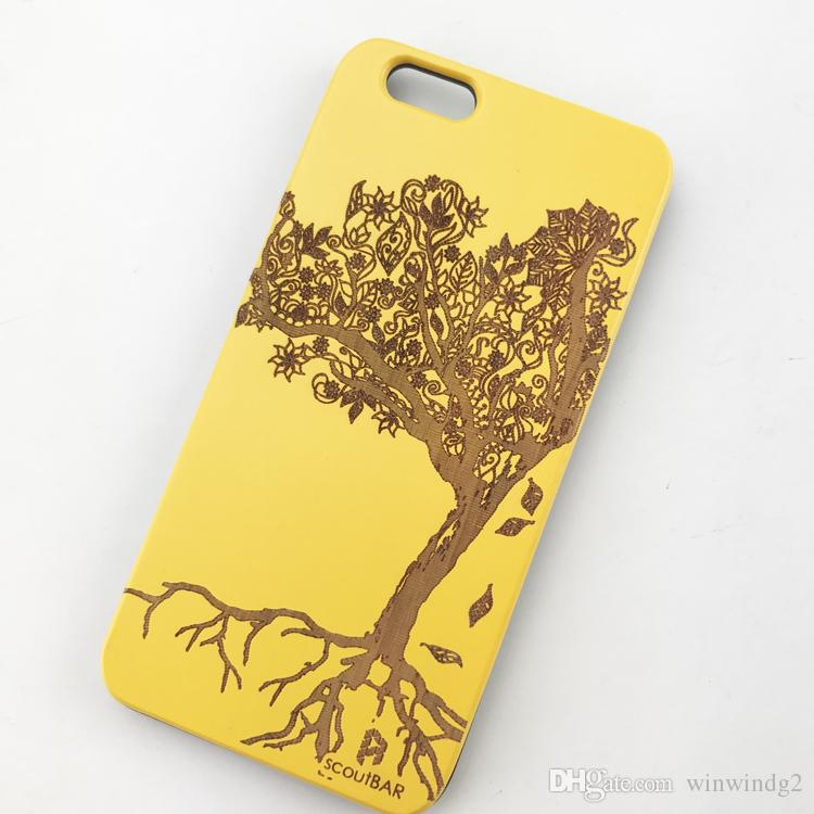 U&I On Sales Original Wood Back case for IPhone ultra slim Cell Phone Case with Solid PC Phone Cases