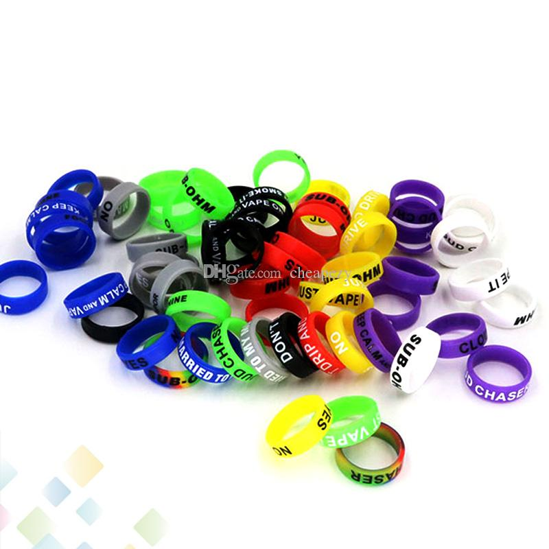 Neueste rutschfeste mod silikon ring elektronische zigarette silikon vape ring für mechanische mods e zigarette zubehör silikon ringe dhl frei