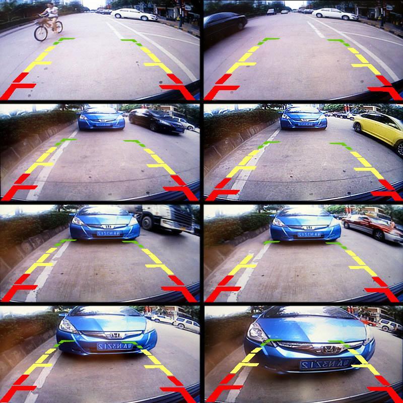 Câmeras de Visão Traseira do carro Com Luzes LED Para Nissan Tiida / Livina / Geniss / Versa HB / GT-R Câmera Reversa # 4032