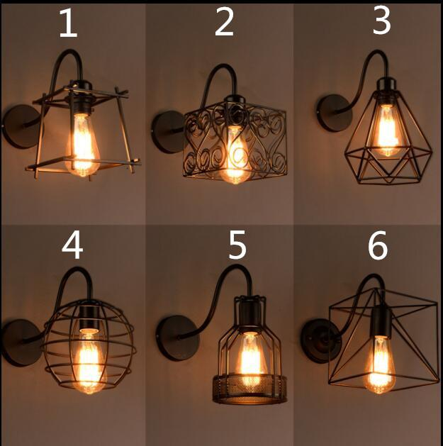 Best Quality Vintage Iron American Wall Lamp Modern Black Wall ...