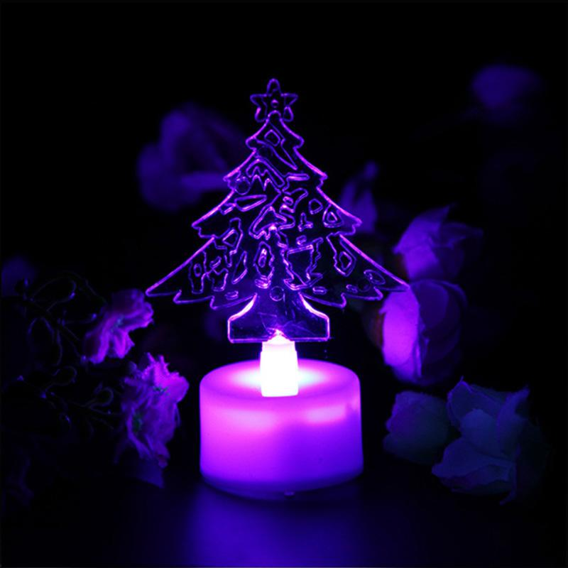 2018 wholesale high quality mini led color changing acrylic christmas tree candle night light for home beedroom romantic wedding party decor from stylenew