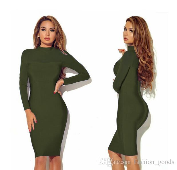 Best gift Autumn and winter burst long sleeves perspective sexy nightclub dress NLX012
