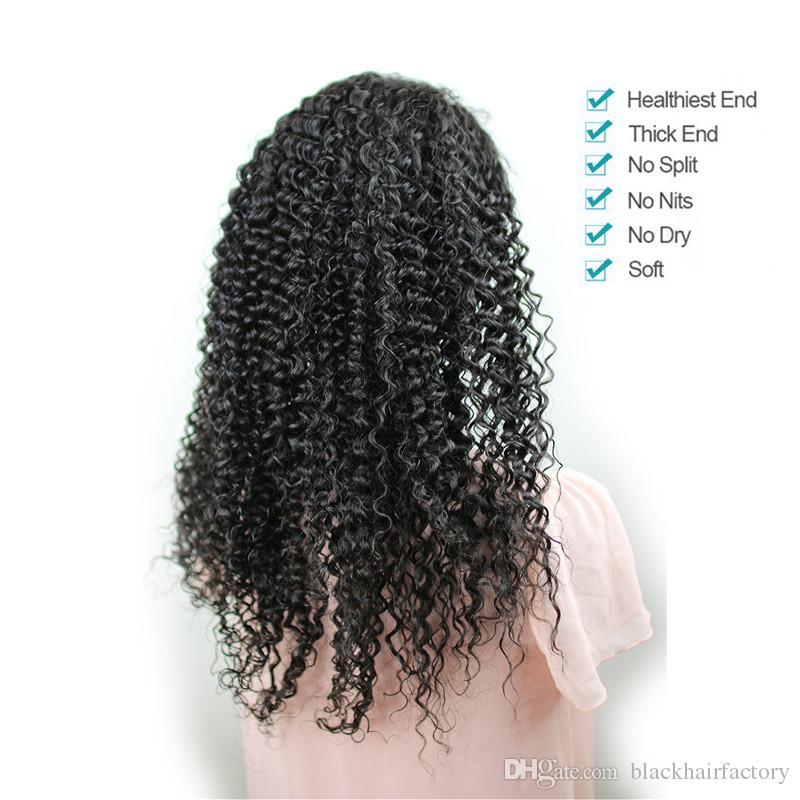 Brezilyalı kıvırcık İnsan saç dantel ön peruk satışa ucuz kıvırcık tam dantel İnsan saç peruk siyah kadınlar için
