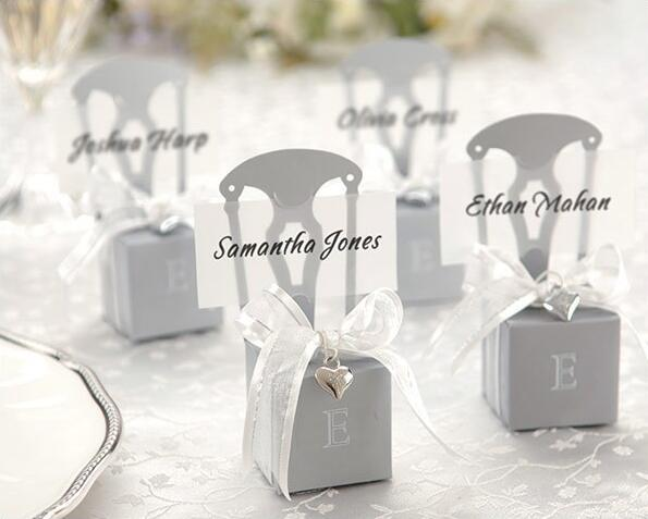 Silver Chair Wedding favor box candy box Cake Chocolate boxes heart decor Wedding gift boxes wit ribbon