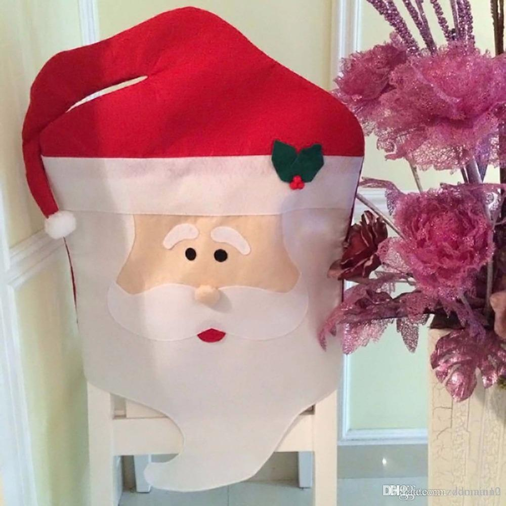 Acheter Lovely Christmas Chair Covers Mr Mme Santa Claus Decoration De Noel Dining Room Cover Home Party Decor 986 Du Zdomain10
