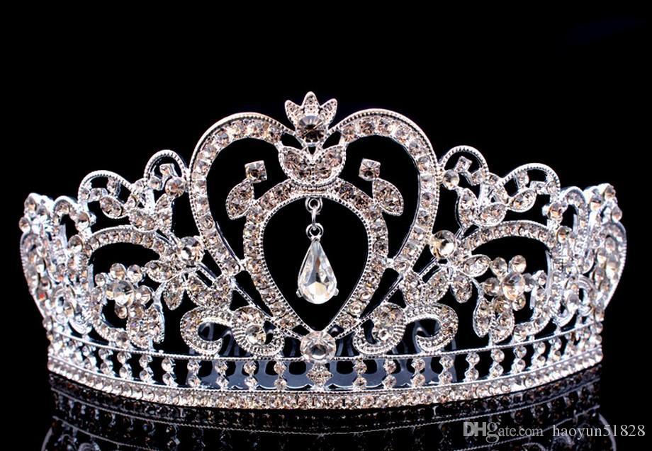 2018 Свадебный Алмаз ювелирные изделия Кристалл золото и серебро корона волос