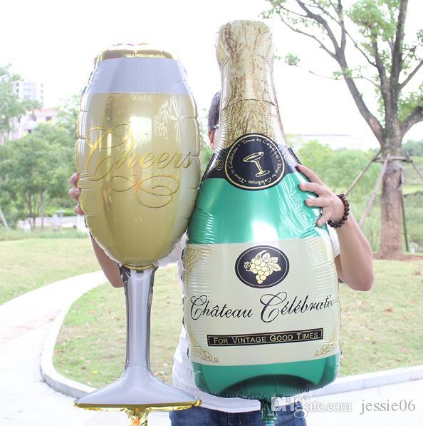 Large Champagne Cup Beer Bottle Balloons Aluminium Foil Helium Wedding Party Practical Ballons Party Birthday Wedding Hen Christmas Decor
