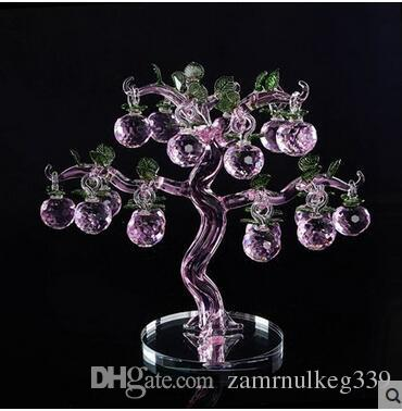 2019 Beautiful Crystal Apple Pachiku Home Decoration Crafts Creative European Style Wedding Gifts Living Room Decorations From Zamrnulkeg339