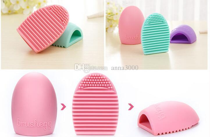 Brushegg Cleaning Glove MakeUp Spazzola lavaggio Lavasciuga Cosmetica Brushegg Spazzola cosmetica Uovo i JJD2033