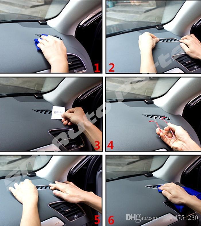 Antena de aire acondicionado de ventilación del coche marco cubierta decorativa recorte de salida de aire interior Tira de acero inoxidable para Audi A4 B8 A5