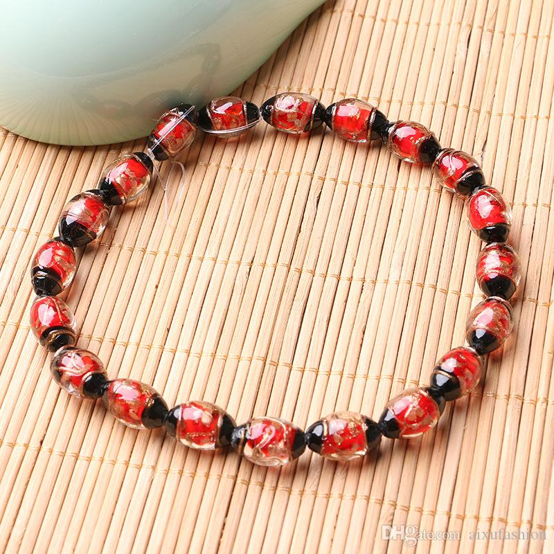 12x18mm Oval Shape Lampwork Beads Charm Loose Spacer Beads for Jewelry Bracelet Necklace Making
