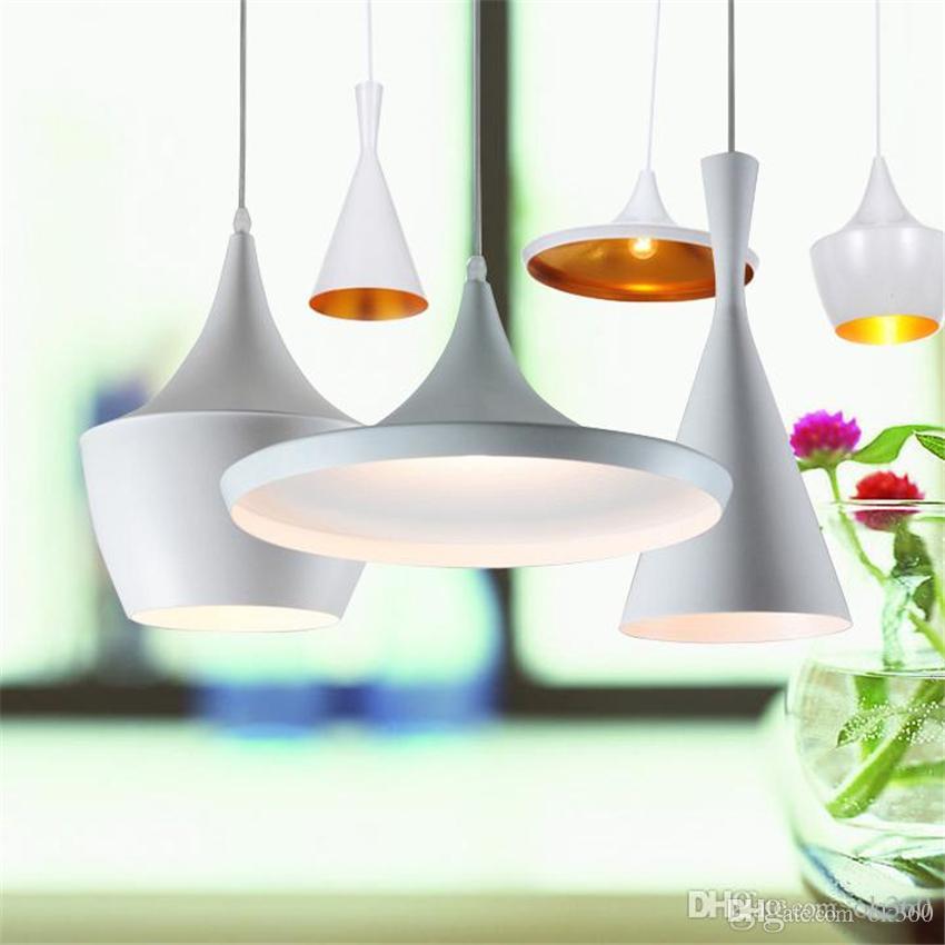 Modern Tom Dixon Beat White Light Pendant Lamp Ceiling Lighting